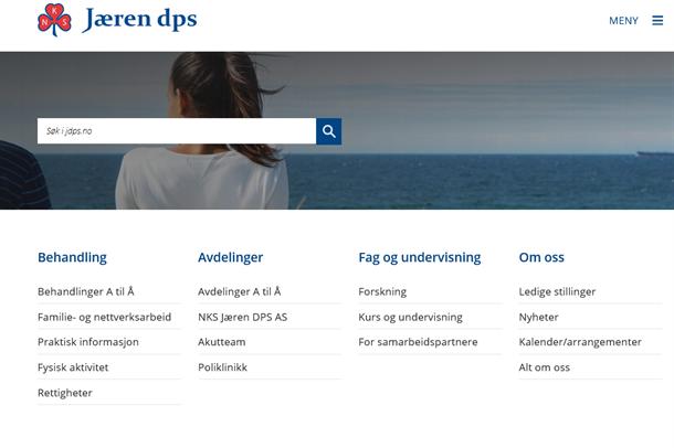 Illustrasjonsfoto av nettsiden